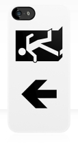Running Man Fire Safety Exit Sign Emergency Evacuation Apple iPhone 5 Mobile Phone Case 61
