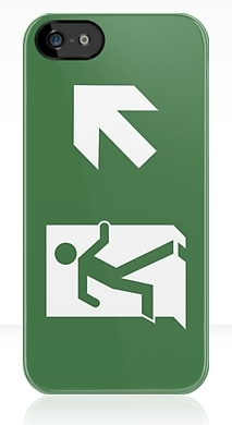 Running Man Fire Safety Exit Sign Emergency Evacuation Apple iPhone 5 Mobile Phone Case 62