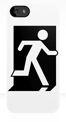 Running Man Fire Safety Exit Sign Emergency Evacuation Apple iPhone 5 Mobile Phone Case 63