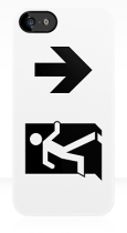 Running Man Fire Safety Exit Sign Emergency Evacuation Apple iPhone 5 Mobile Phone Case 64