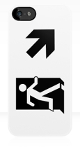 Running Man Fire Safety Exit Sign Emergency Evacuation Apple iPhone 5 Mobile Phone Case 65