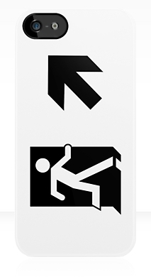 Running Man Fire Safety Exit Sign Emergency Evacuation Apple iPhone 5 Mobile Phone Case 66