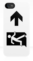 Running Man Fire Safety Exit Sign Emergency Evacuation Apple iPhone 5 Mobile Phone Case 67
