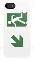 Running Man Fire Safety Exit Sign Emergency Evacuation Apple iPhone 5 Mobile Phone Case 68