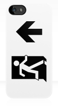 Running Man Fire Safety Exit Sign Emergency Evacuation Apple iPhone 5 Mobile Phone Case 69