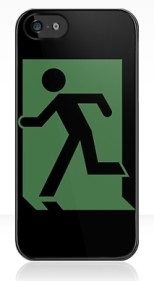 Running Man Fire Safety Exit Sign Emergency Evacuation Apple iPhone 5 Mobile Phone Case 70