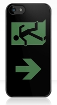 Running Man Fire Safety Exit Sign Emergency Evacuation Apple iPhone 5 Mobile Phone Case 71