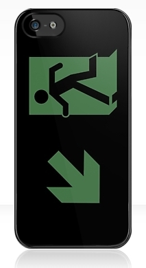Running Man Fire Safety Exit Sign Emergency Evacuation Apple iPhone 5 Mobile Phone Case 72