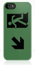 Running Man Fire Safety Exit Sign Emergency Evacuation Apple iPhone 5 Mobile Phone Case 73