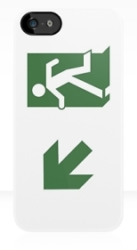 Running Man Fire Safety Exit Sign Emergency Evacuation Apple iPhone 5 Mobile Phone Case 74