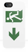 Running Man Fire Safety Exit Sign Emergency Evacuation Apple iPhone 5 Mobile Phone Case 75