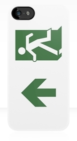 Running Man Fire Safety Exit Sign Emergency Evacuation Apple iPhone 5 Mobile Phone Case 76