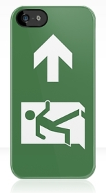 Running Man Fire Safety Exit Sign Emergency Evacuation Apple iPhone 5 Mobile Phone Case 77