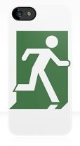 Running Man Fire Safety Exit Sign Emergency Evacuation Apple iPhone 5 Mobile Phone Case 78