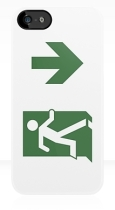 Running Man Fire Safety Exit Sign Emergency Evacuation Apple iPhone 5 Mobile Phone Case 79