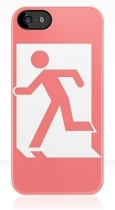 Running Man Fire Safety Exit Sign Emergency Evacuation Apple iPhone 5 Mobile Phone Case 8