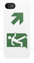 Running Man Fire Safety Exit Sign Emergency Evacuation Apple iPhone 5 Mobile Phone Case 80