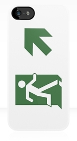 Running Man Fire Safety Exit Sign Emergency Evacuation Apple iPhone 5 Mobile Phone Case 81