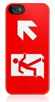Running Man Fire Safety Exit Sign Emergency Evacuation Apple iPhone 5 Mobile Phone Case 82