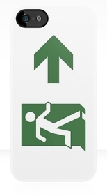 Running Man Fire Safety Exit Sign Emergency Evacuation Apple iPhone 5 Mobile Phone Case 83