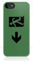 Running Man Fire Safety Exit Sign Emergency Evacuation Apple iPhone 5 Mobile Phone Case 84