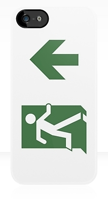 Running Man Fire Safety Exit Sign Emergency Evacuation Apple iPhone 5 Mobile Phone Case 85