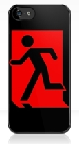 Running Man Fire Safety Exit Sign Emergency Evacuation Apple iPhone 5 Mobile Phone Case 86