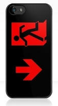 Running Man Fire Safety Exit Sign Emergency Evacuation Apple iPhone 5 Mobile Phone Case 87