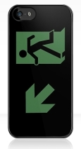 Running Man Fire Safety Exit Sign Emergency Evacuation Apple iPhone 5 Mobile Phone Case 88