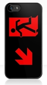 Running Man Fire Safety Exit Sign Emergency Evacuation Apple iPhone 5 Mobile Phone Case 89