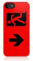 Running Man Fire Safety Exit Sign Emergency Evacuation Apple iPhone 5 Mobile Phone Case 9
