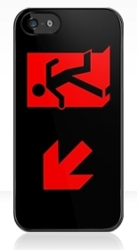Running Man Fire Safety Exit Sign Emergency Evacuation Apple iPhone 5 Mobile Phone Case 90