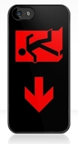Running Man Fire Safety Exit Sign Emergency Evacuation Apple iPhone 5 Mobile Phone Case 91