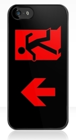 Running Man Fire Safety Exit Sign Emergency Evacuation Apple iPhone 5 Mobile Phone Case 92