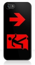 Running Man Fire Safety Exit Sign Emergency Evacuation Apple iPhone 5 Mobile Phone Case 93