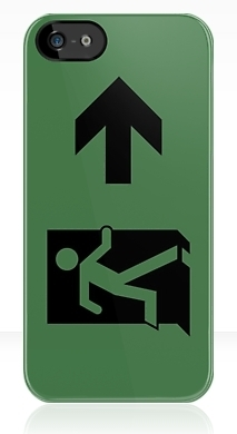 Running Man Fire Safety Exit Sign Emergency Evacuation Apple iPhone 5 Mobile Phone Case 94