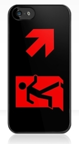 Running Man Fire Safety Exit Sign Emergency Evacuation Apple iPhone 5 Mobile Phone Case 95