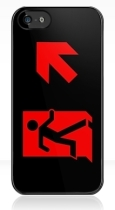 Running Man Fire Safety Exit Sign Emergency Evacuation Apple iPhone 5 Mobile Phone Case 96