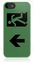 Running Man Fire Safety Exit Sign Emergency Evacuation Apple iPhone 5 Mobile Phone Case 97