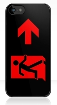 Running Man Fire Safety Exit Sign Emergency Evacuation Apple iPhone 5 Mobile Phone Case 98