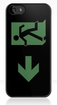 Running Man Fire Safety Exit Sign Emergency Evacuation Apple iPhone 5 Mobile Phone Case 99