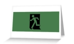Running Man Fire Safety Exit Sign Emergency Evacuation Greeting Card 1