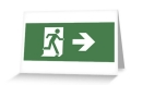 Running Man Fire Safety Exit Sign Emergency Evacuation Greeting Card 10