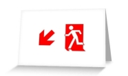 Running Man Fire Safety Exit Sign Emergency Evacuation Greeting Card 100