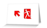 Running Man Fire Safety Exit Sign Emergency Evacuation Greeting Card 101