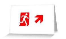 Running Man Fire Safety Exit Sign Emergency Evacuation Greeting Card 108