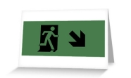 Running Man Fire Safety Exit Sign Emergency Evacuation Greeting Card 116