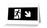 Running Man Fire Safety Exit Sign Emergency Evacuation Greeting Card 120
