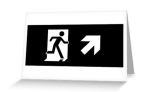 Running Man Fire Safety Exit Sign Emergency Evacuation Greeting Card 121