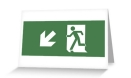 Running Man Fire Safety Exit Sign Emergency Evacuation Greeting Card 126